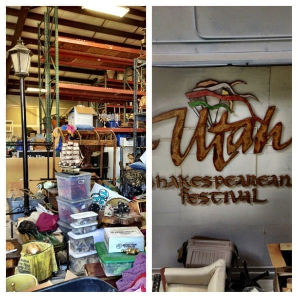 Visiting the @UtahShakespeare prop shop!