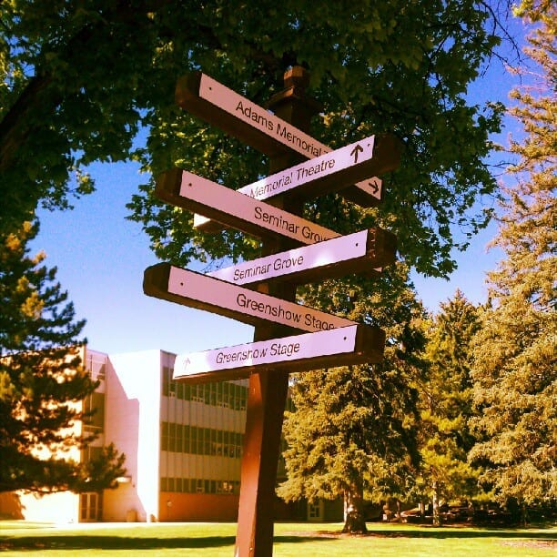 Just arrived @utahshakespeare. Now…where to go…