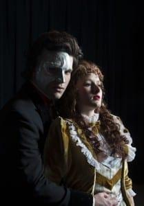 The Phantom (Preston Yates) and Christine Christine (DeLaney Westfall).