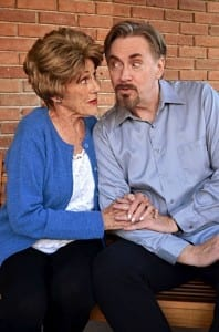 Anne Cullimore Decker as Emma and Jim Dale as Dimitri. Photo by Morgan Donavan, courtesy of AP Productions.