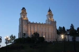 The LDS Manti Temple, the setting of the Mormon Miracle Pageant. Show closes June 29, 2013.