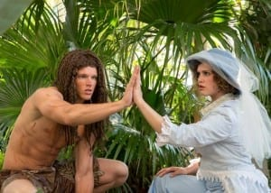 Brian Smith as Tarzan and Rian Shepherd as Jane.