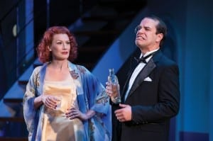 Robert Adelman Hancock (left) as Billy Crocker and Elizabeth Telford as Hope Harcourt in the Utah Shakespeare Festival's 2013 production of Anything Goes. (Photo by Karl Hugh. Copyright Utah Shakespeare Festival 2013.)