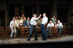 A scene from the Utah Shakespeare Festival's 2013 production of Twelve Angry Men. (Photo by Karl Hugh. Copyright Utah Shakespeare Festival 2013.)