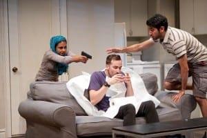 Mahira Kakkar as Yalda Abbasi, Kohler McKenzie as Jerome, and Omar Maskati as Rahim Janjua. Photo by Seth Freeman