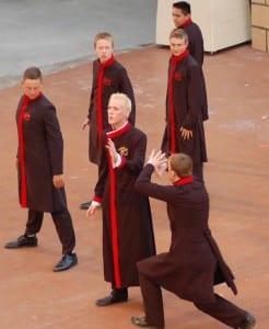 Jonathan Baker (center) as Zoser.