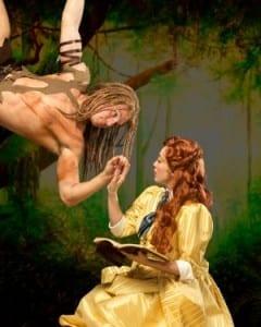Bradley Lever as Tarzan and Megan Lynn Heaps as Jane.