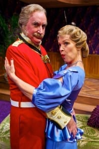 L-R: James Judy (Col. Gillweather) and Rebecca Watson (Lady Manley-Prowe). Photo by Alexander Weisman.