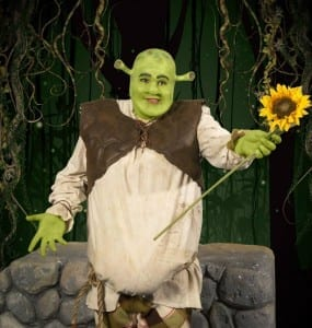 B. J. Oldroyd as Shrek. Photo by Mark A. Philbrick.