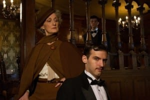 L-R: Tia Speros (Miss Tweed), Jaron Barney (Clive) and Joseph Medeiros (Nigel). Photo by Brent Uberty at the McCune Mansion.