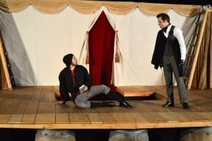 Eric D. Geels as Doctor Faustus and Shawn Saunders as Mephistopheles.
