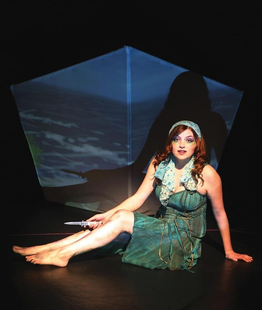 Niki Waite as a mermaid.
