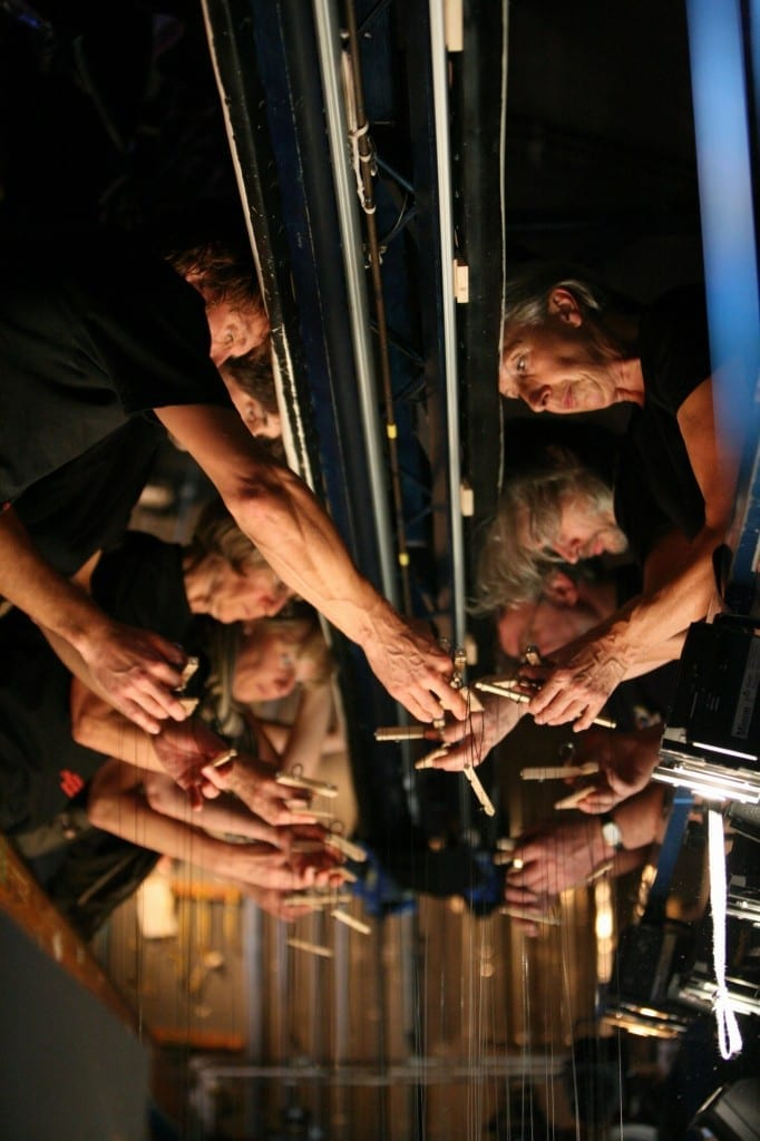 The puppeteers for the Salzburg Marionette Theatre production of The Sound of Music that visited BYU are Philippe Bruner, Pierre Droin, Anne-Lise Droin, Edouard Funk, Vladimir Fediakov, Heide Hoelzel, Michaela Obermayr, Emanuel Paulus, Eva Wiener, and Ursula Winzer.
