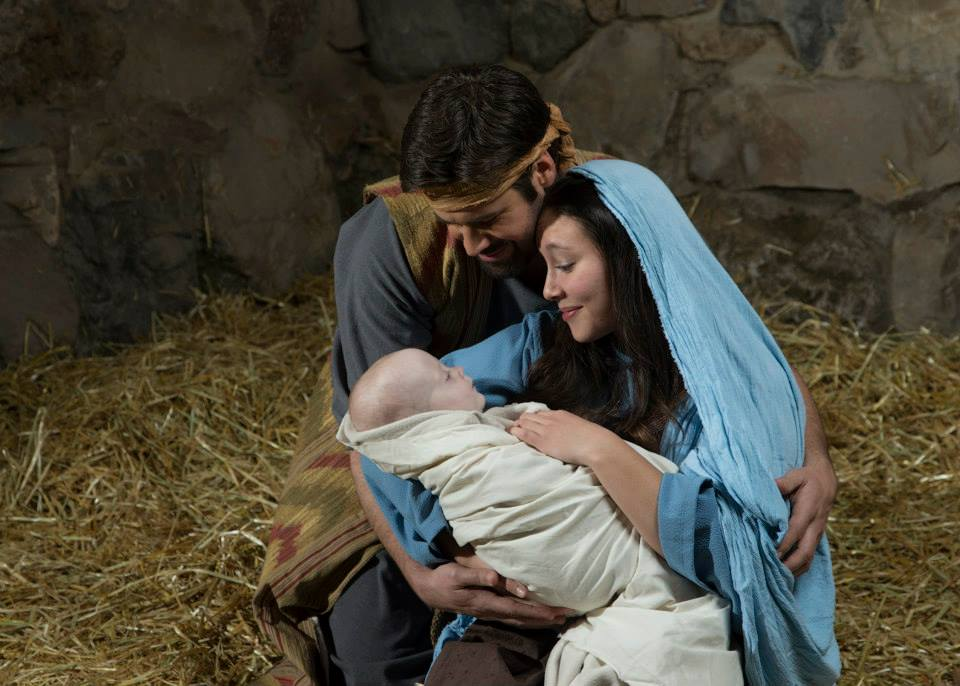 Michael DuBois as Joseph and Julia Sanchez as Mary. Photo by Mark A. Philbrick.