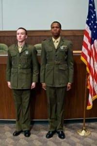 Austin Archer (Pfc. Louden Downey) and Corey Allen (Lance Cpl. Harold Dawson).