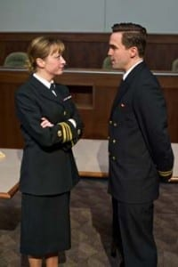 Kate Middleton (Lt. Cmdr. Joanne Galloway) and Joe Tapper (Lt. J.G. Daniel Kaffee).