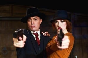 Johnny Hebda (Clyde Barrow) and Madeline Weinberger (Bonnie Parker).