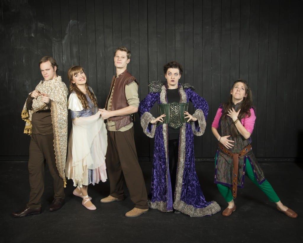 Clyde Northrup as Iachimo, Averill Corkin as Imogen, Bryson Alley as Leonatus, Jasmine Fullmer as The Queen, and Mary Beth Bosen as Philario.