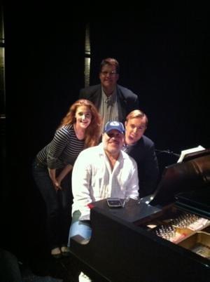 Composer Frank Wildhorn meets with Utah Rep's BONNIE & CLYDE team before Utah premiere