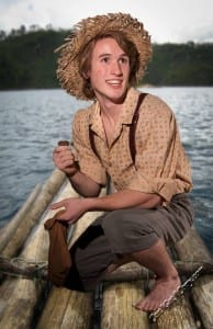 Andrew Robertson as Huck Finn. Photo by Pete Widfeldt.