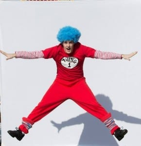 Marshall Madsen as Thing 1. Photo by Mark A. Philbrick.