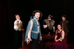 Stephanie Breinholt as Alice More, Alex Trop as the Duke of Norfolk, Ben Hopkin as Thomas More, Mallory Gee as Margaret More, and Ben Isaacs as Common Man.