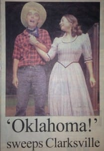 Johnny Hebda, 17 years old, performing as Will Parker in a regional production of OKLAHOMA!