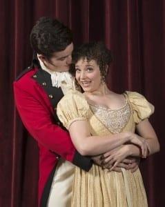 Matt Kranz as George Wickham and Lindsay Clark as Lydia Bennett.