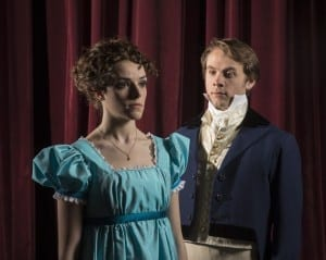 Karli Hall as Elizabeth Bennett and Ted Bushman as Fitzwilliam Darcy. Show closes April 4, 2014.