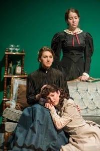 Top to bottom: Hannah Minshew as Masha, Elizabeth John as Olga, and Amy Ware as Irina.