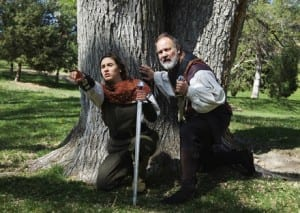 Anne Briggs as Wigluf and Tobin Atkinson as Beowulf.