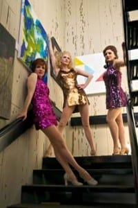 Left to right: Nancy Lemenager as Charity, Angie Schworer as Nickie, and Natalie Hill as Helene. Photo by Alexander Weisman.