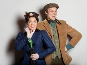 Kimberly as Mary Poppins and David Smith as Burt.