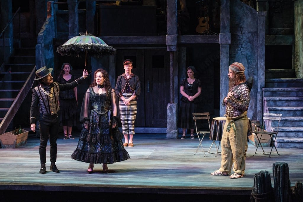 A scene from the Utah Shakespeare Festival's 2014 production of Twelfth Night. (Photo by Karl Hugh. Copyright Utah Shakespeare Festival 2014.)