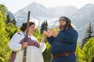 Marcie Jacobson as Golde and David Stensrud as Tevye. Photo by Justin Hackworth.