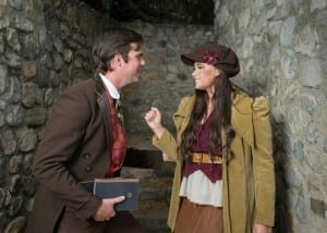 Christian Jones as Marius and Kira Knorr as Eponine.