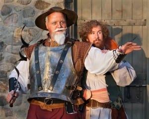 Dave Burton as Don Quixote and Andy Hansen as Sancho Panza. Photo by Pete Widtfeldt.