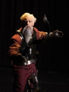 Art Allen as Don Quixote.
