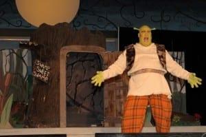 Layne B. Wilson as Shrek. Photo by Tonia McPeak.