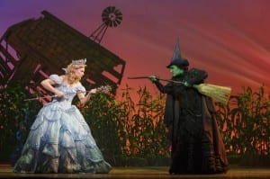 Gina Beck as Glinda and Emma Hunton as Elphaba. Photo by Joan Marcus.