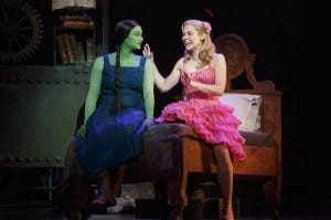 Emma Hunton as Elphaba and Gina Beck as Glinda. Photo by Joan Marcus.