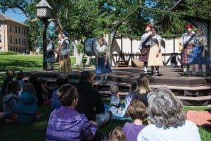 A scene from the Utah Shakespeare Festival's 2014 production of The Greenshow. (Photo by Karl Hugh. Copyright Utah Shakespeare Festival 2014.)