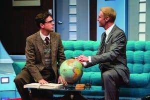 Quinn Mattfeld (left) as Robert and Grant Goodman as Bernard in the Utah Shakespeare Festival's 2014 production of Boeing Boeing. (Photo by Karl Hugh. Copyright Utah Shakespeare Festival 2014.) Show closes October 18, 2014.