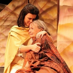 Amy Ware as Polyxena and Sandy Shotwell as Hecuba.