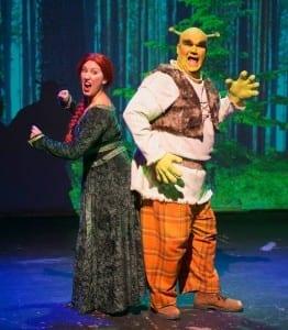 Shrek and Fiona.