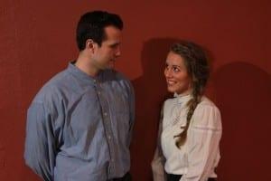 David Lasseter as Arthur Stevenson and Anna Hargadon as Abigail Baker.