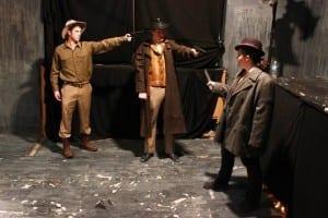 Neal Hooper as the Trooper, Stephen Geis as Zeek, and Bryn Dalton Randall as Jody.