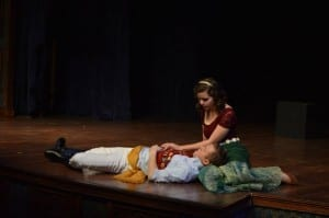 Nick Gledhill as Prince Edward and Christie Clark Rasmussen as Marina.
