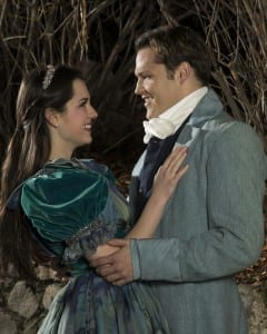 Cassie Austin as Valentine Villefort, Cayel Tregeagle as Albert.