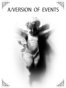 AVersion of Events poster - Plan B Theatre Company